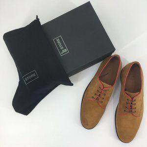 B Store Men's Gordon 1 Genuine Leather Oxford Tan